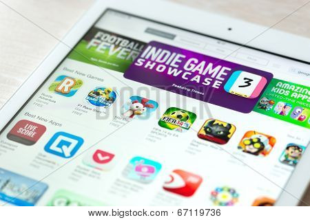 App Store With Games Collection On Apple Ipad Air