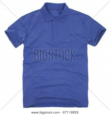Polo shirt isolated on white background.