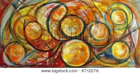 Fine Art Swirls Painting