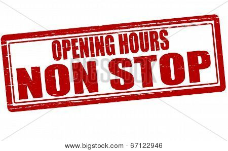 Opening Hours Non Stop