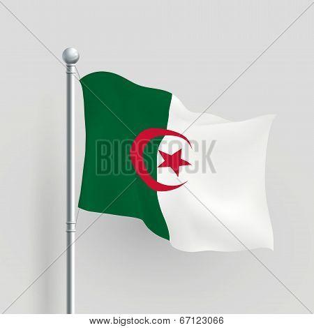 3D Vector Algeria Flag