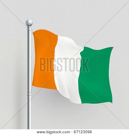 3D Vector Ivory Coast Flag