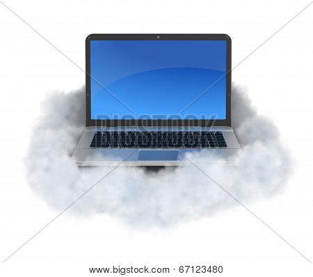 Laptop On Cloud.