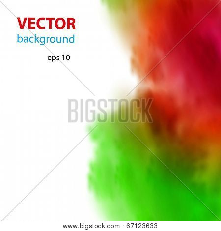 Vector abstract water ink background, easy color editable