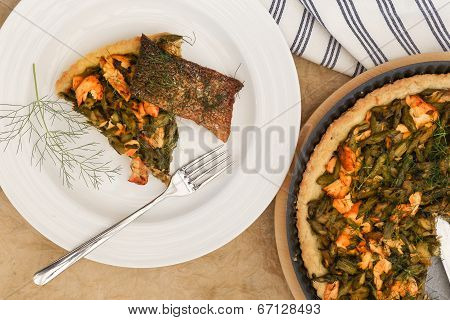Asparagus Zucchini Salmon Quiche With Homemade Shortcrust Pastry