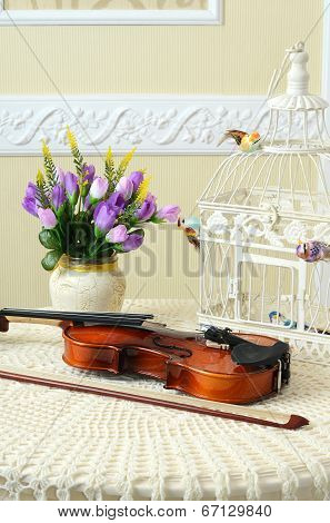 Violin On The Table