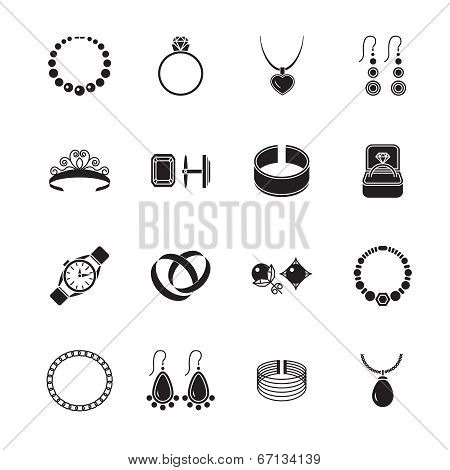 Jewelry icon black