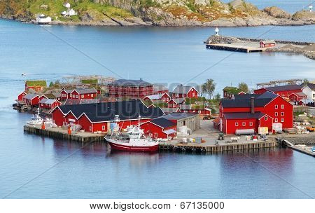 Norway Village In Sea, Lofoten