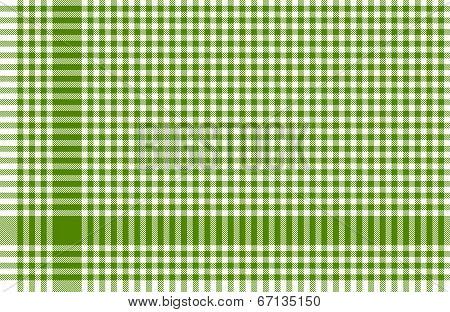 Checkered Tablecloths Pattern Green