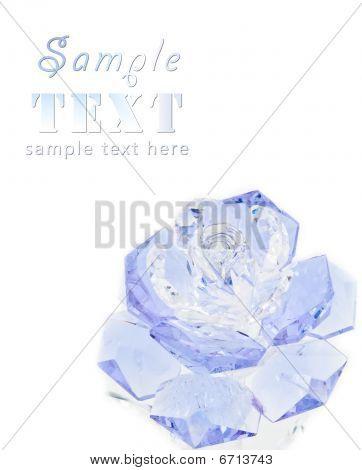 Violet Crystal Rose On A White Background