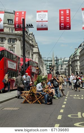 Regent Street closed to traffic, London