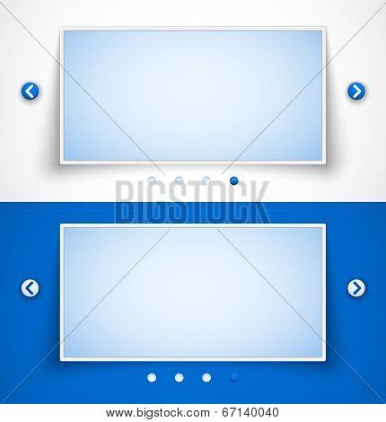 Set of web image sliders