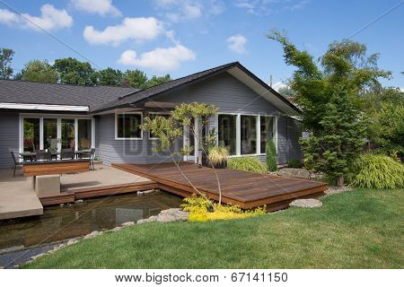 Home With Deck And Water