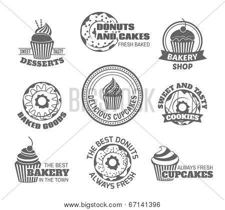 Donut cupcake label