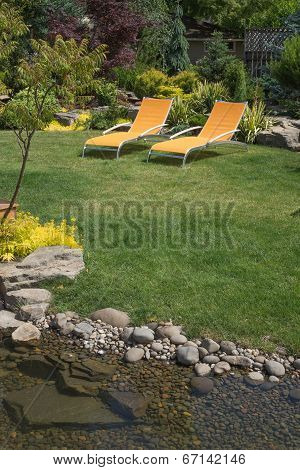 Stream With Backyard Chairs