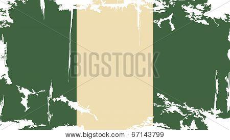 Nigerian grunge flag. Vector illustration