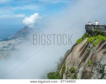 Tourists On Corcovado Peak