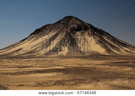 Hill In Black Desert In Egypt