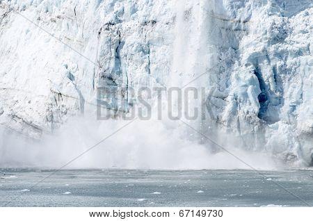 Marguerite Glacier Calving in Alaska