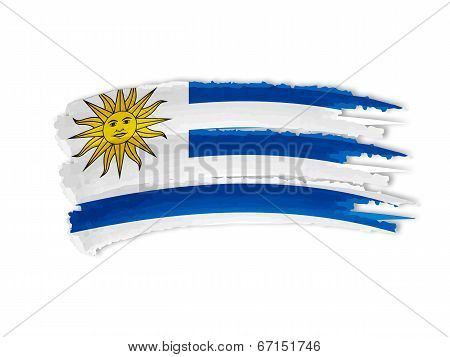 Uruguay Flag Drawing