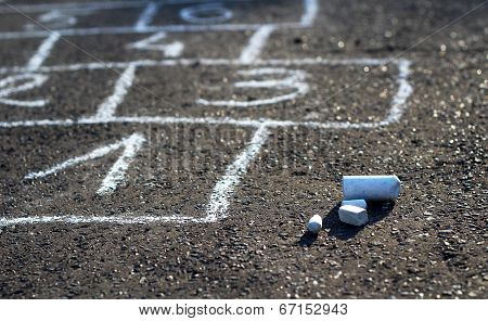 Hopscotch street game