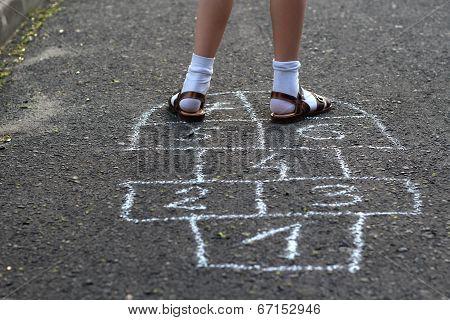 Girls playing street