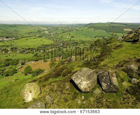 View Of Peak District From Curbar Edge