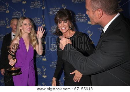 LOS ANGELES - JUN 20:  Lauralee Bell, Jess Walton, Sean Carrigan at the 2014 Creative Daytime Emmy Awards at the The Westin Bonaventure on June 20, 2014 in Los Angeles, CA