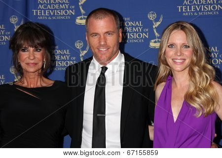 LOS ANGELES - JUN 20:  Jess Walton, Sean Carrigan, Lauralee Bell at the 2014 Creative Daytime Emmy Awards at the The Westin Bonaventure on June 20, 2014 in Los Angeles, CA