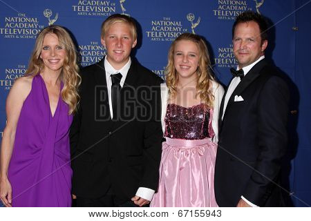 LOS ANGELES - JUN 20:  Lauralee Bell, Christian Martin, Samantha Martin, Scott Martin at the 2014 Creative Daytime Emmy Awards at the The Westin Bonaventure on June 20, 2014 in Los Angeles, CA
