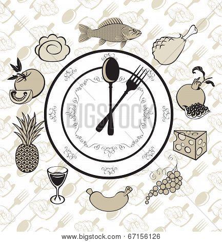 Plate clock