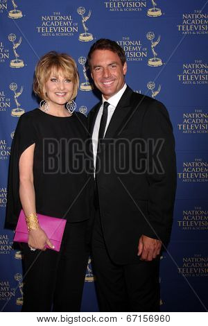 LOS ANGELES - JUN 20:  Christina Ferrare, Mark Steines at the 2014 Creative Daytime Emmy Awards at the The Westin Bonaventure on June 20, 2014 in Los Angeles, CA