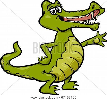 Crocodile Animal Cartoon Illustration