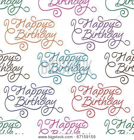 Happy Birthday seamless background pattern