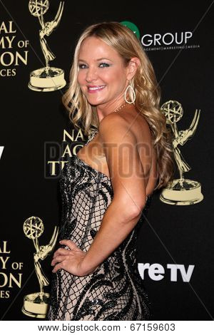 LOS ANGELES - JUN 22:  Sharon Case at the 2014 Daytime Emmy Awards Arrivals at the Beverly Hilton Hotel on June 22, 2014 in Beverly Hills, CA