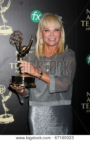 LOS ANGELES - JUN 22:  Linda Bell Blue at the 2014 Daytime Emmy Awards Press Room at the Beverly Hilton Hotel on June 22, 2014 in Beverly Hills, CA