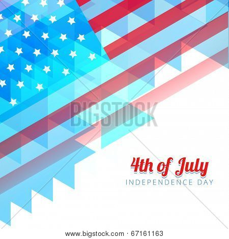 abstract style 4th of july background