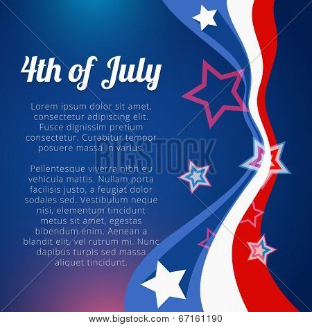 vector stylish 4th of july background