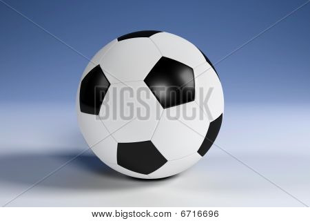 Black And White Football With Clipping Path