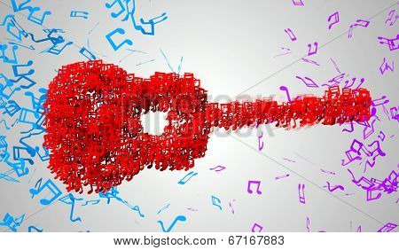 Guitar Musical Note Particles 3D