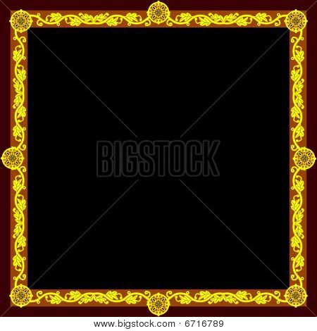 Golden frame (square)
