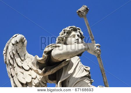 historical angel statue of Castle Saint Angelo