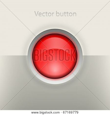 Glossy empty button