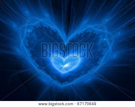 Heart Nebula In Space