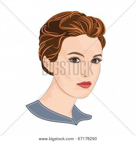 Girl With Short Hair Vector