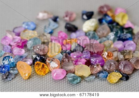 Set Of Colorful Sapphires