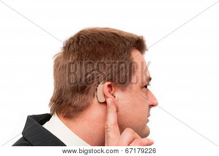 Deaf Man's Hearing Aid