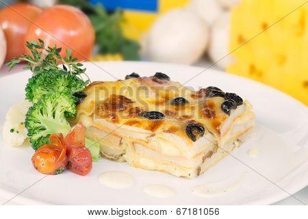 Vegetable Lasagne Close-up