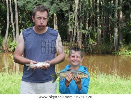 Happy Son And Unhappy Dad