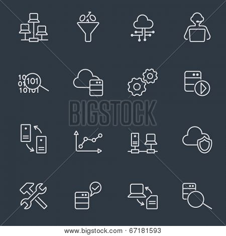 Data system icons